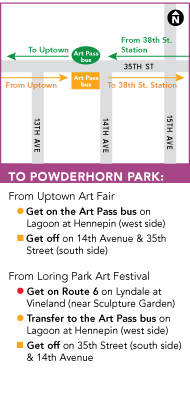 Powderhorn Art Fair map