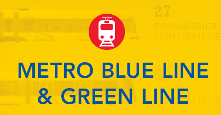 METRO Blue Line and Green Line