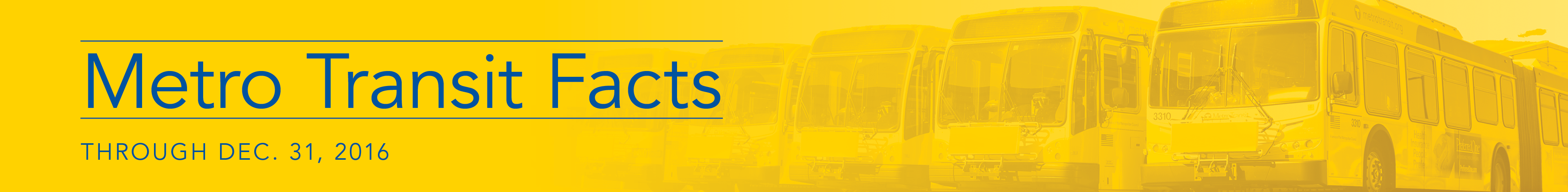 Metro Transit Facts Through Dec. 31, 2015