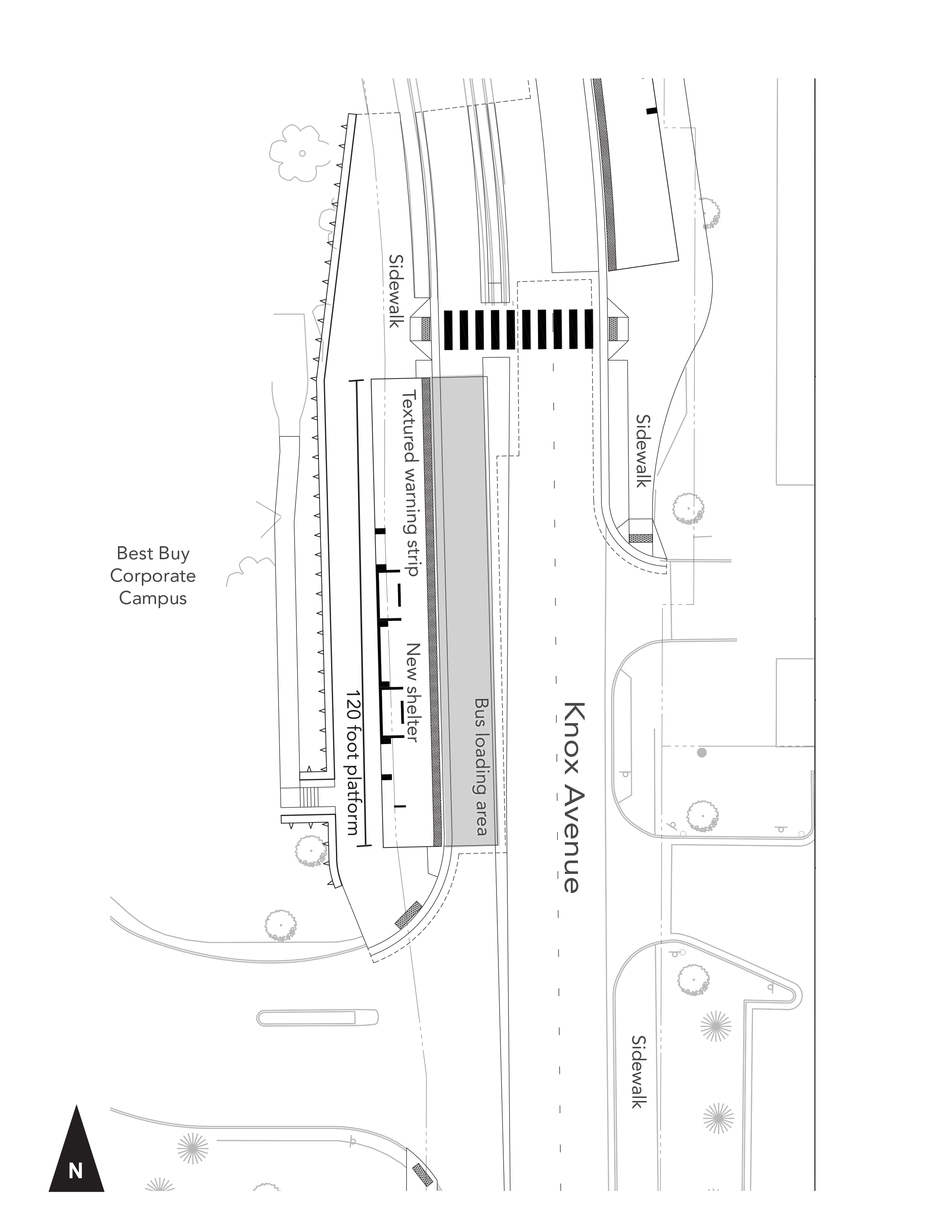 76th Street Station - Southbound - Site Plan