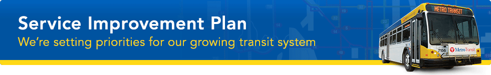 Help shape the future of Metro Transit bus service. We're setting priorities for our growing transit system.