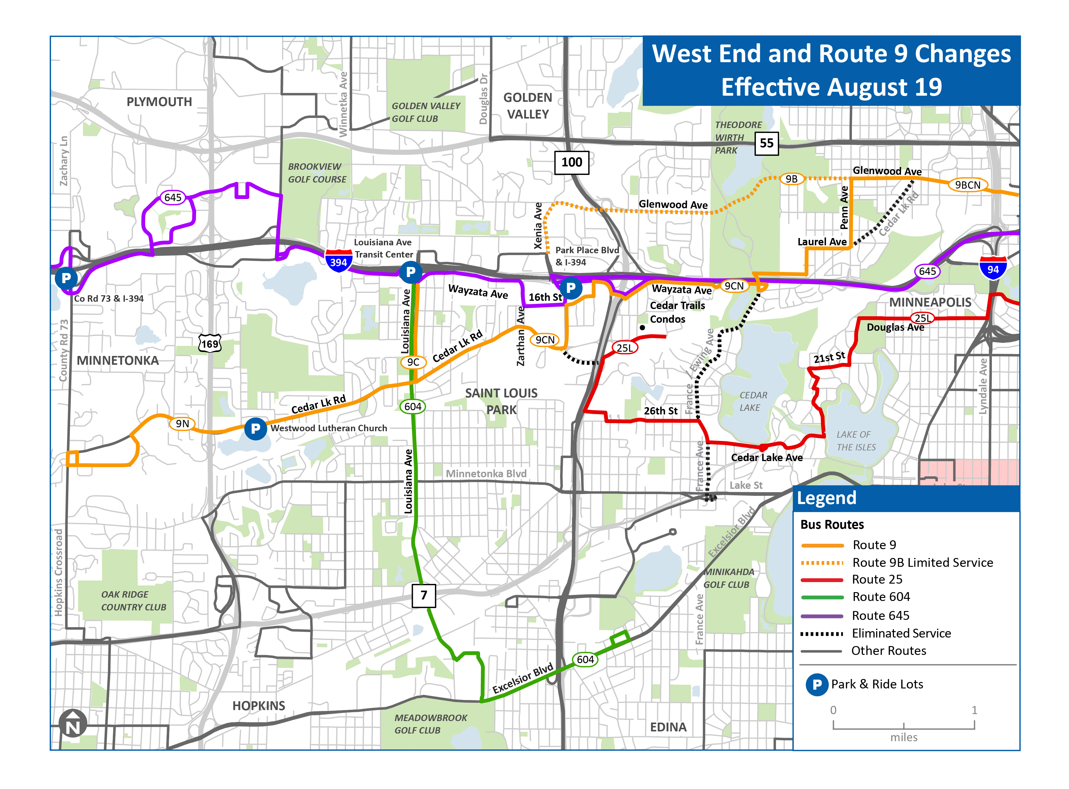 West End Route Map