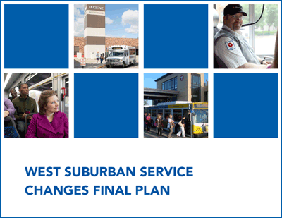 West Suburban Service Changes Final Plan