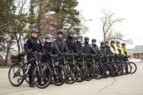 Metro Transit Police bike unit.