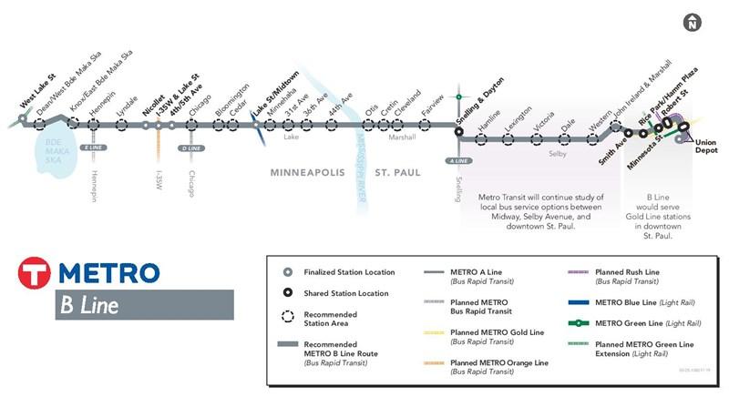 B Line route