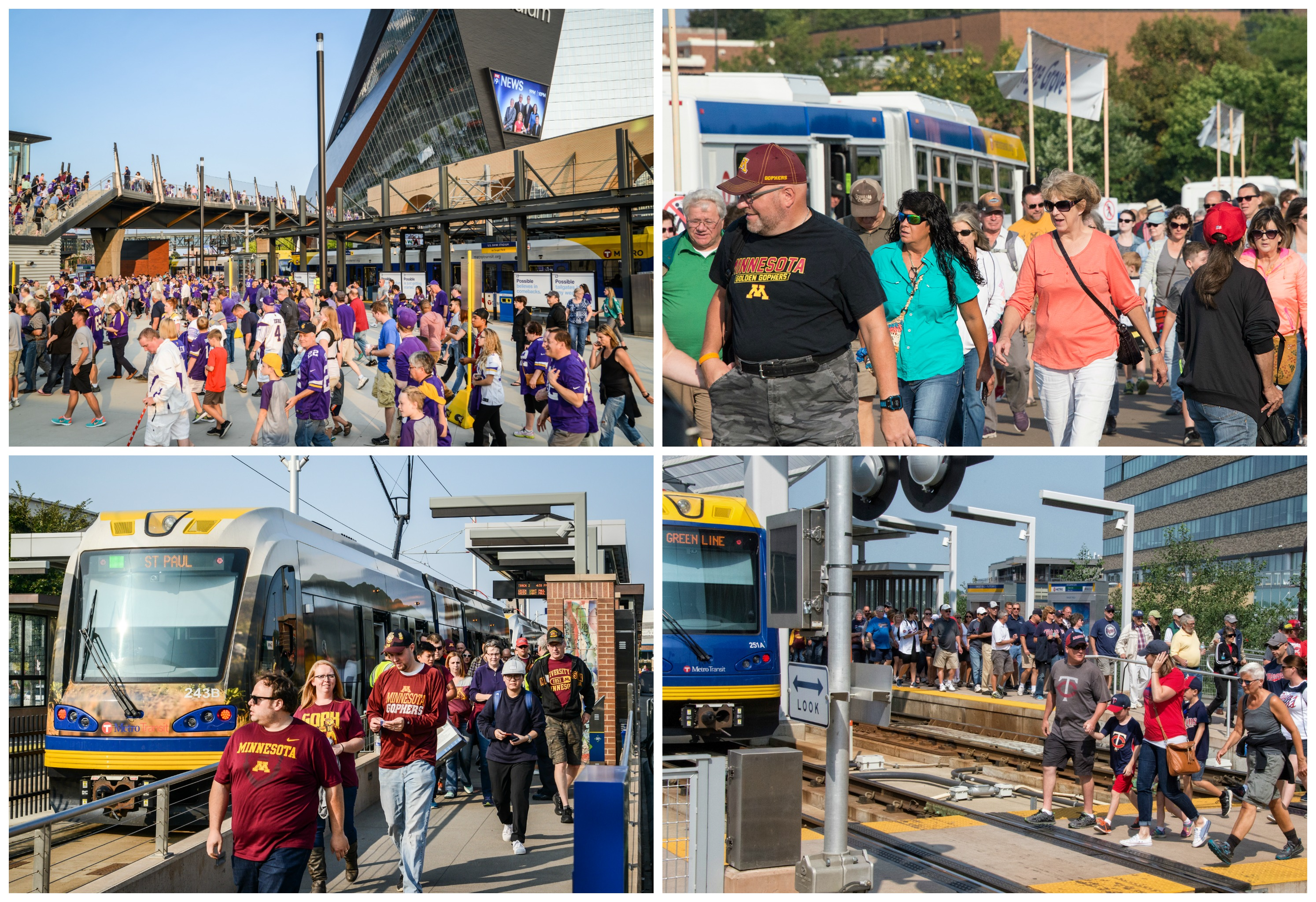 Metro Transit served fairgoers and fans on one of its busiest days ever, Thursday, Aug. 31.