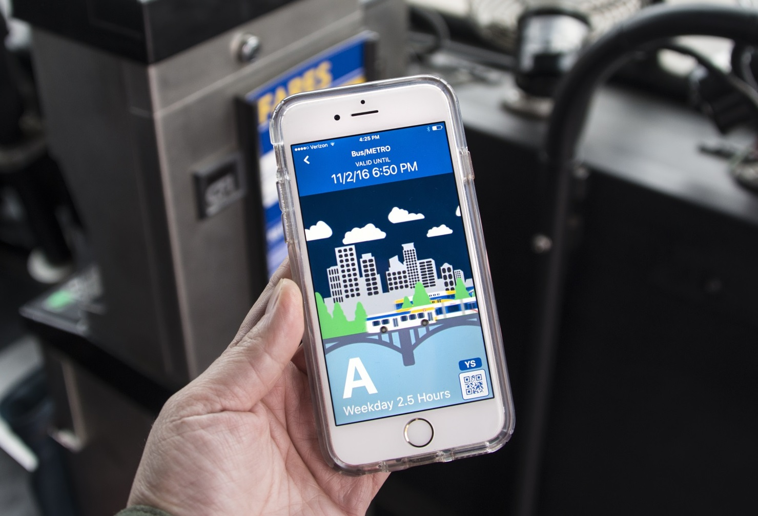 Metro Transit's app allows customers to buy mobile tickets.