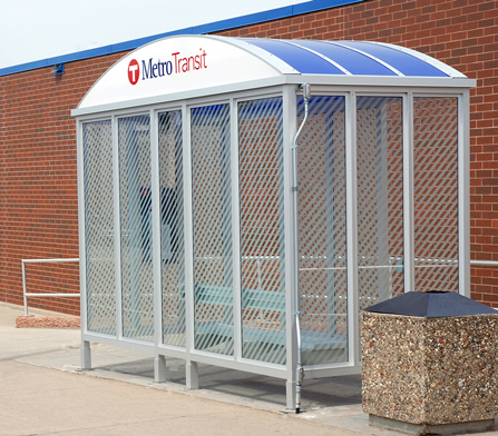 photo metro transit bus shelter