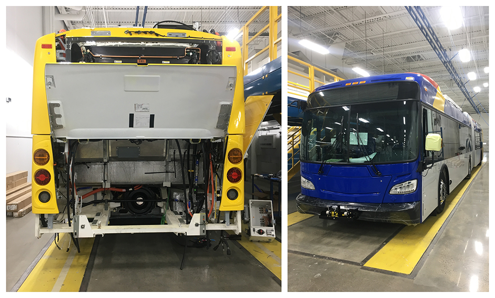 An electric bus being made by New Flyer will be included in Metro Transit's C Line fleet beginning in 2019.