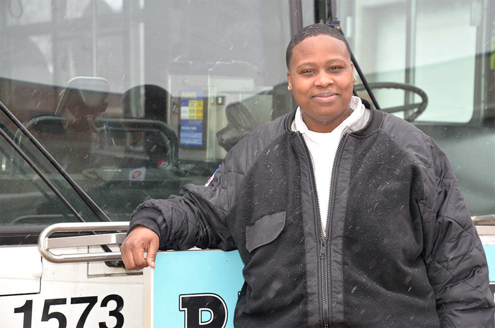 Nicollet Operator Kieyonn Bogan, who began at Metro Transit in 2004.