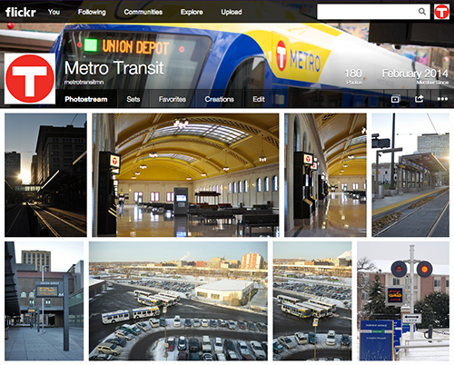 Screen shot of Metro Transit's Flickr page.