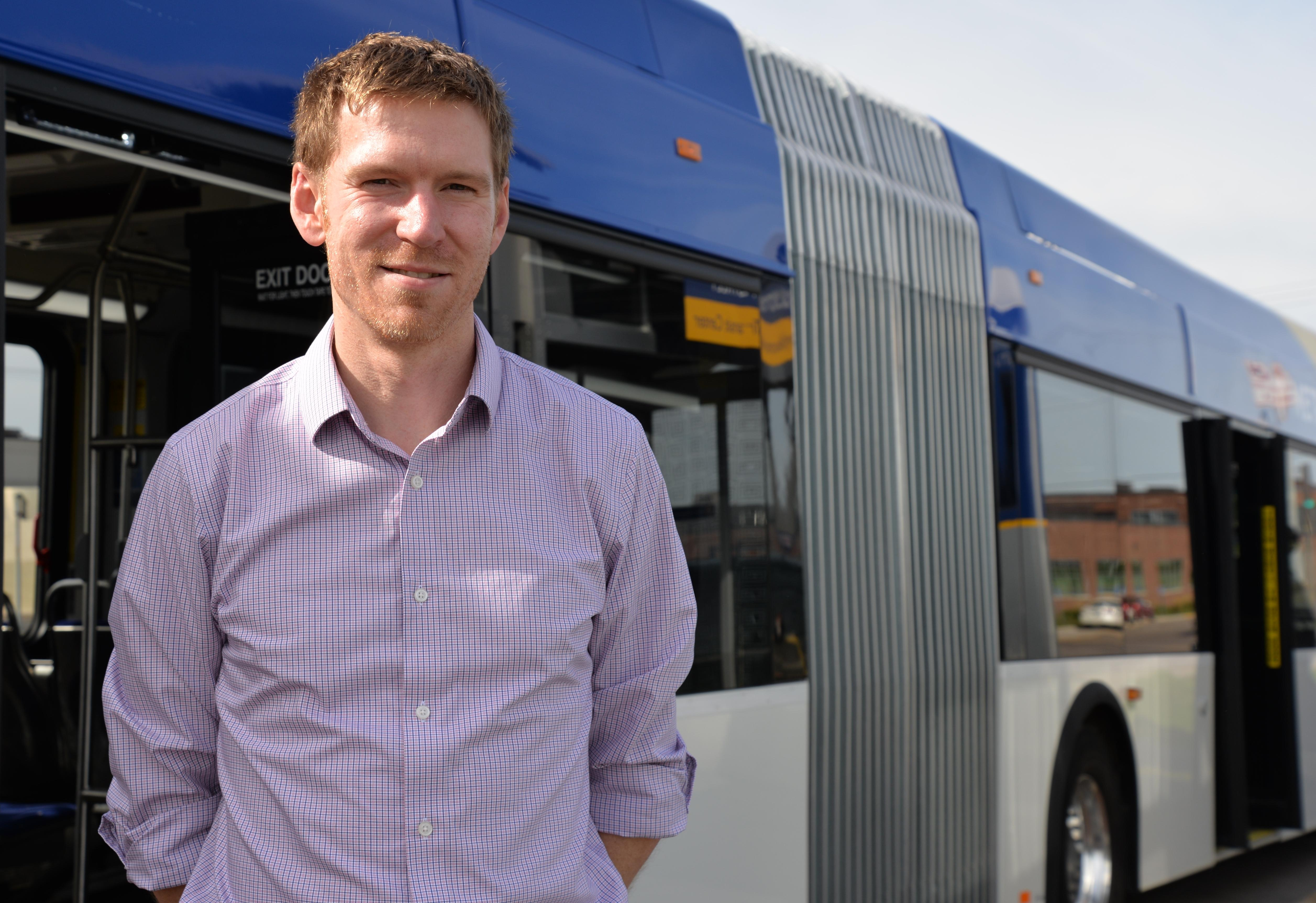 Michael Mechtenberg commutes on Route 134 and other routes that run between downtown Minneapolis and the Heywood Garage, including the METRO C Line.