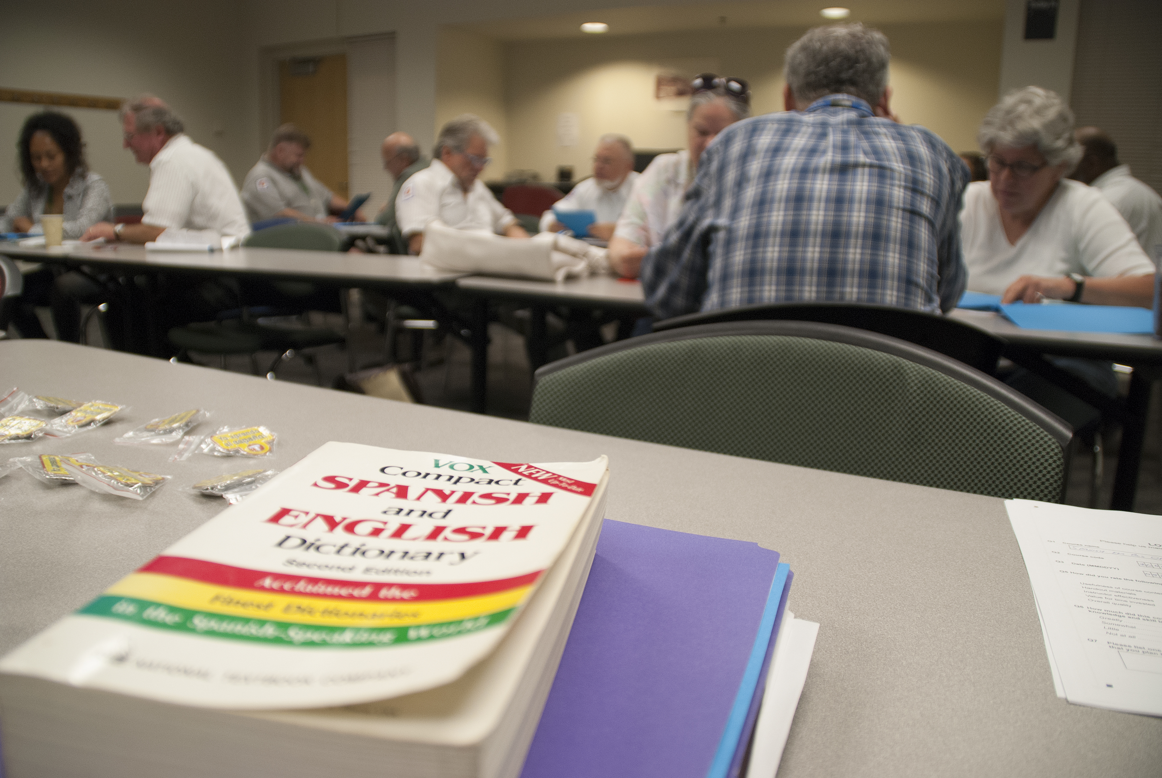 Metro Transit operators practice their Spanish at a recent class in St. Paul.