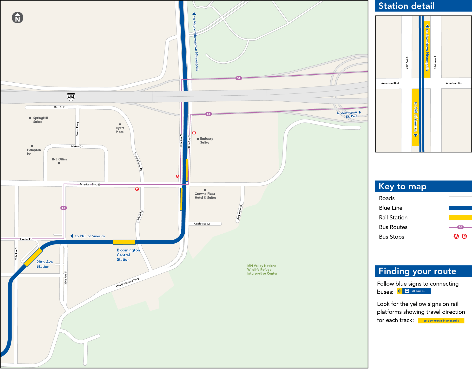 american boulevard station map