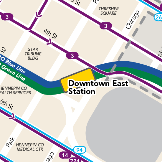 Downtown East - Metrodome Station Detail