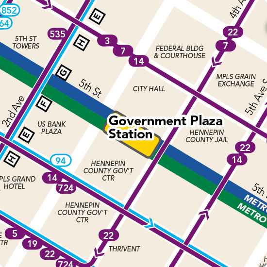 Government Plaza Station Detail