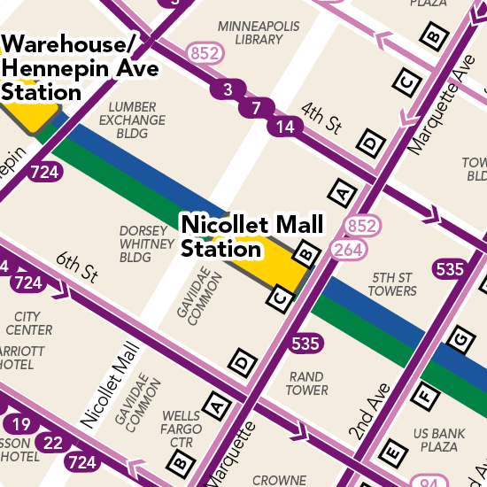 Nicollet Mall Station Detail