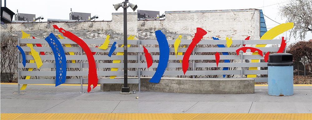 Image of public art at the Cedar-Riverside station on the METRO Blue Line.