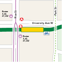 Capitol/Rice Street Station map