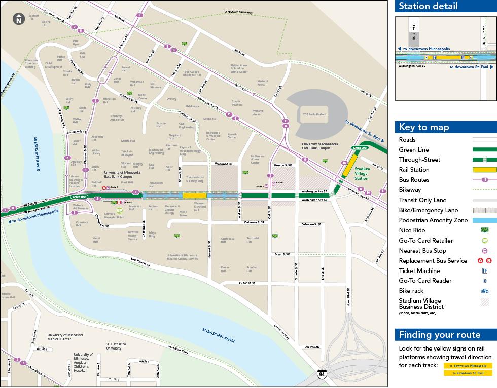 East Bank Station Metro Transit - Us bank energy park st paul maps