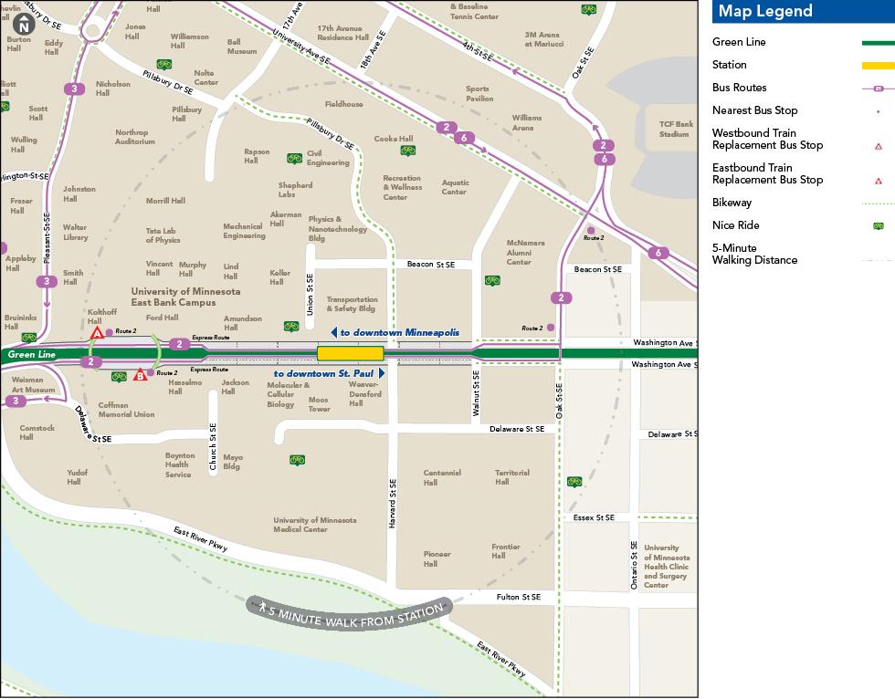 East Bank Station - Metro Transit