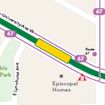 Fairview Avenue Station map