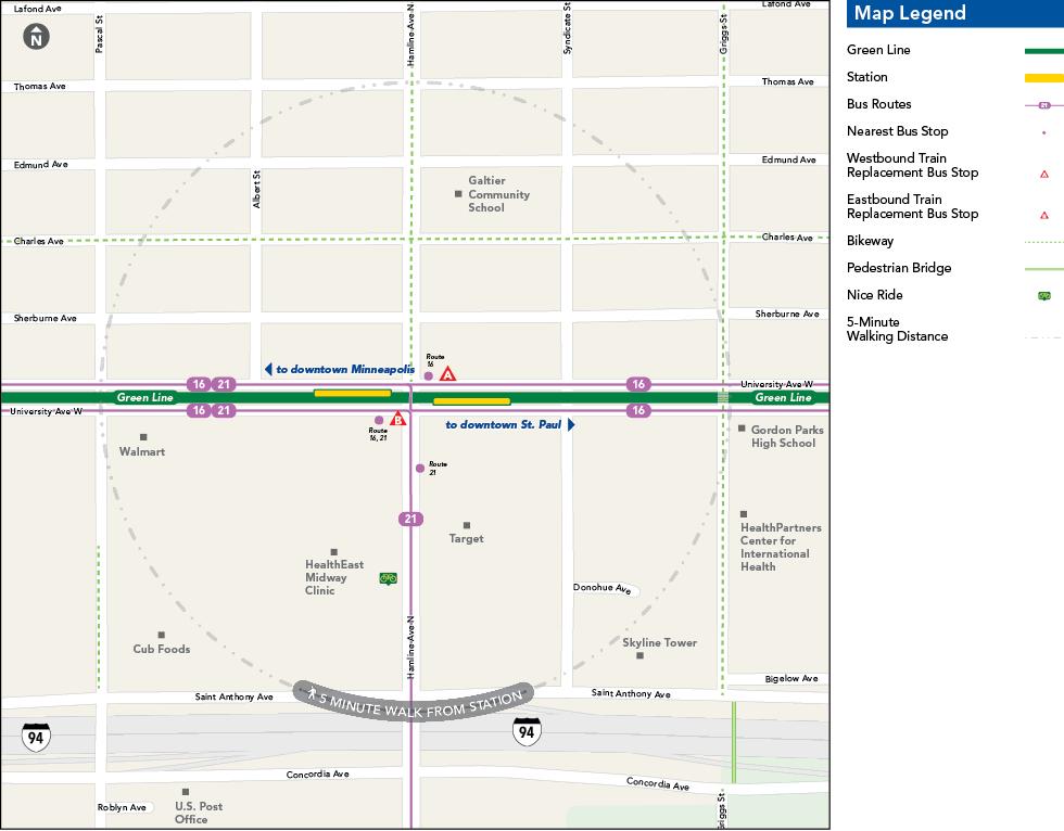 Hamline Avenue Station Metro Transit