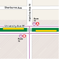 Hamline Avenue Station map