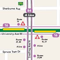 Snelling Avenue Station map