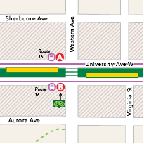 Western Avenue Station map