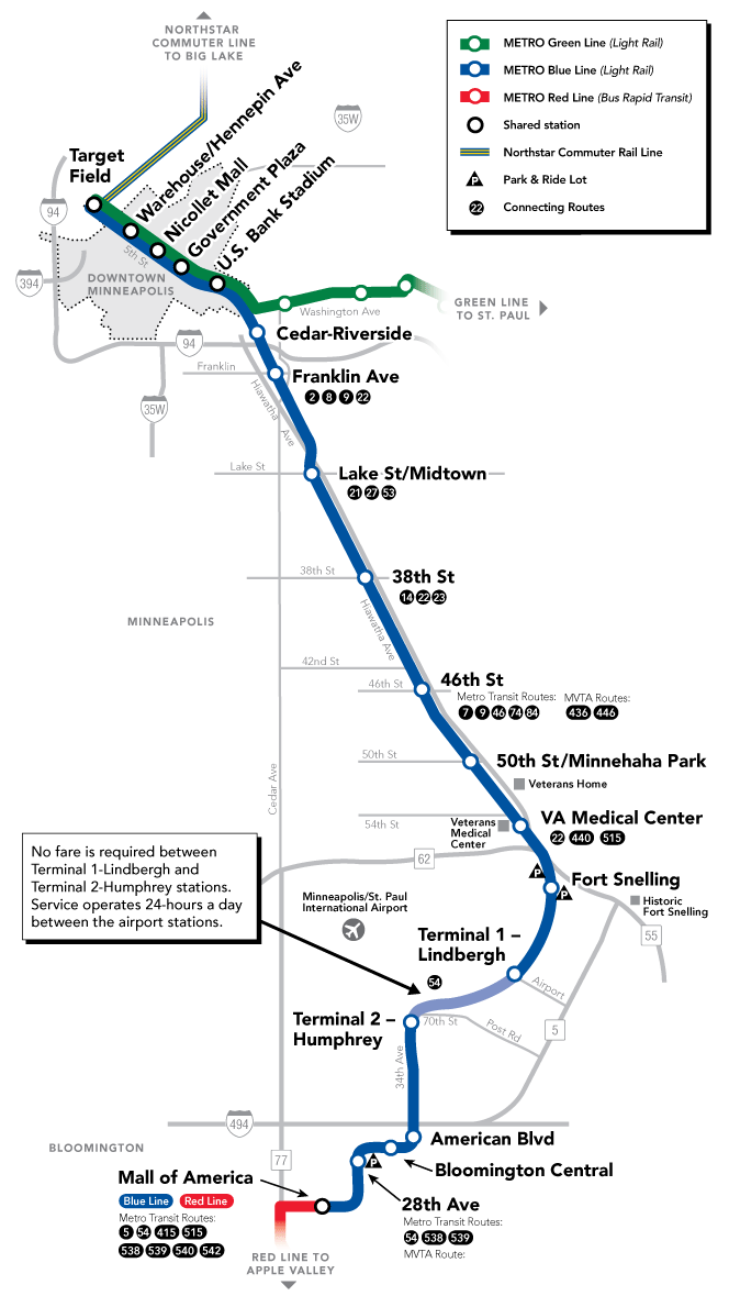 Blue Line map - Metro Transit