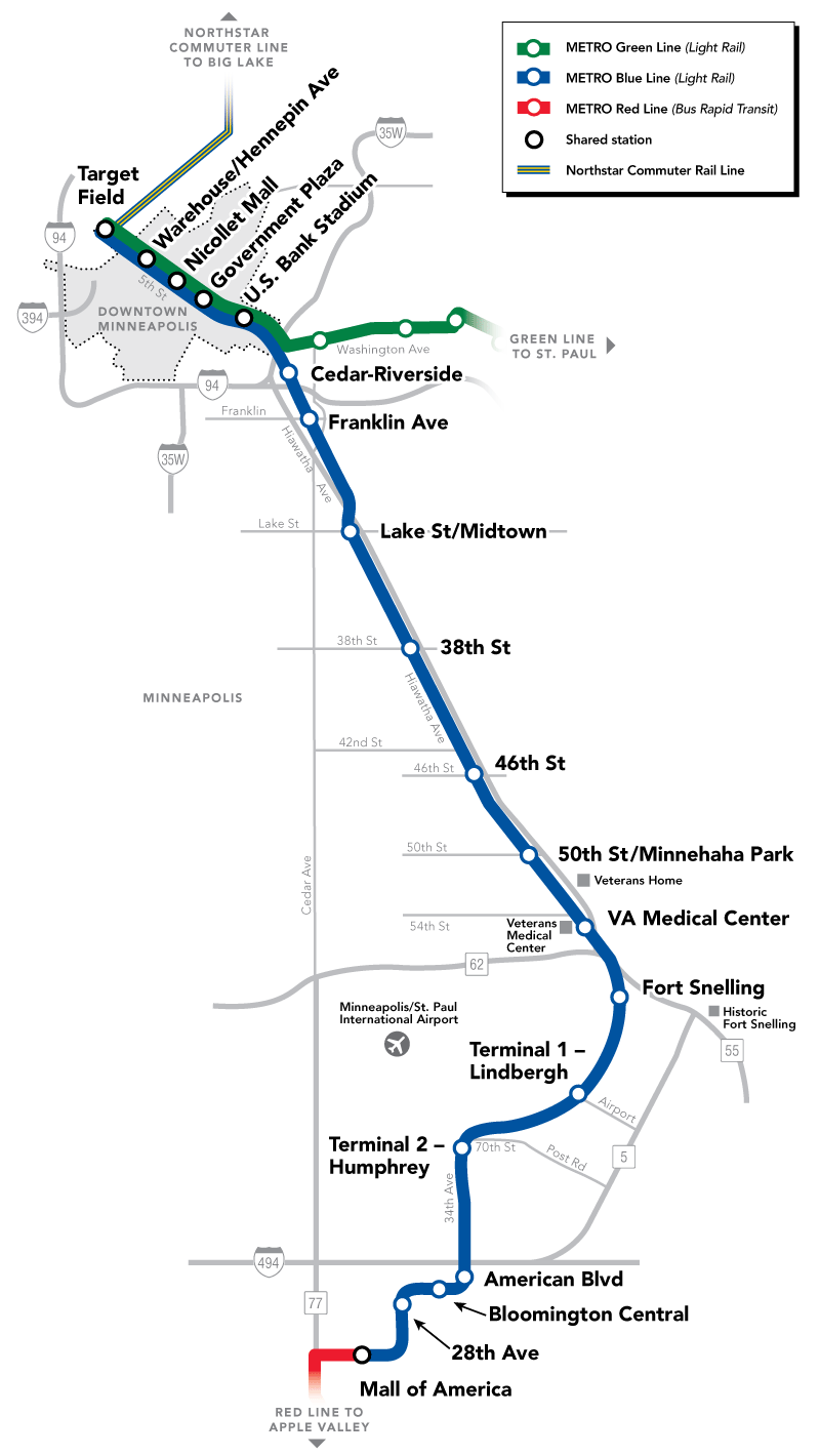 Click on any of the pictures to see the airport diagram - Blue Line Map