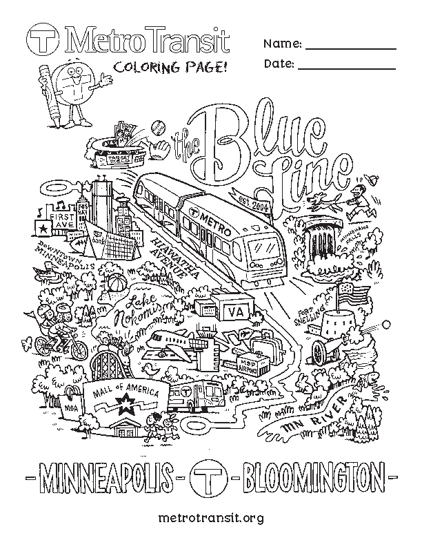 Blue Line coloring page