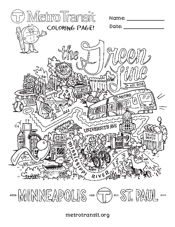 Green Line coloring page