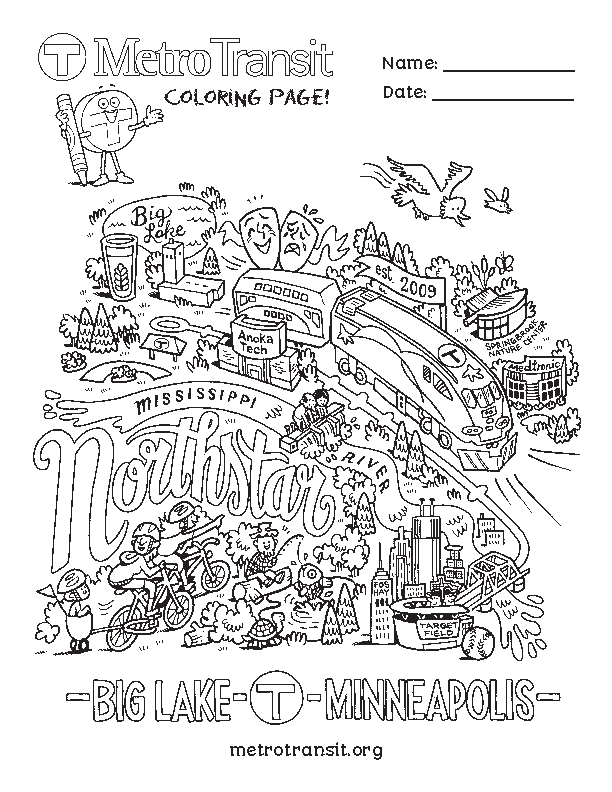 Northstar coloring page
