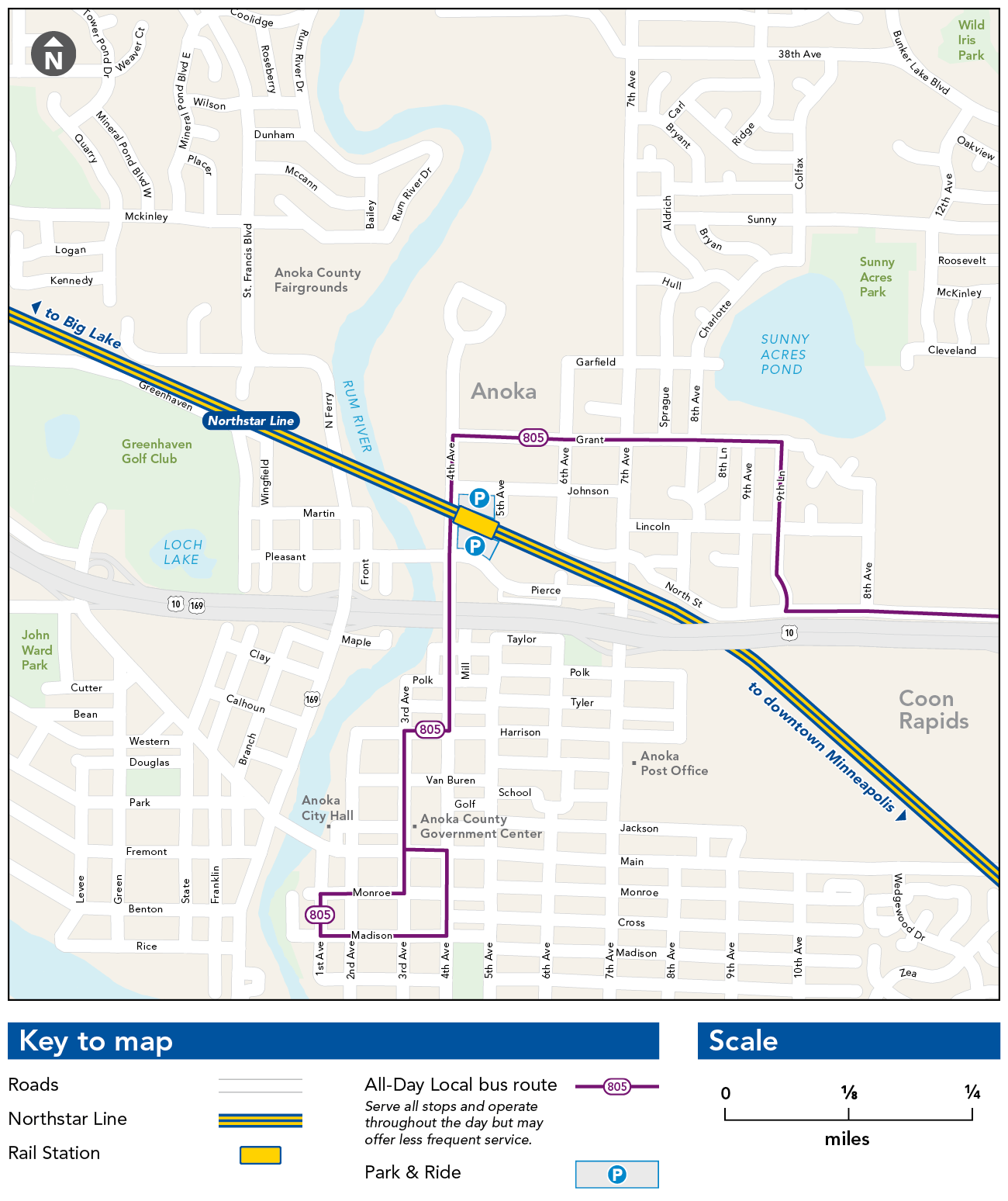 Anoka Station Map