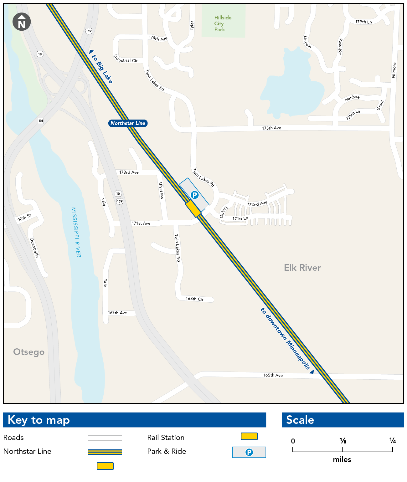 Elk River Station Map