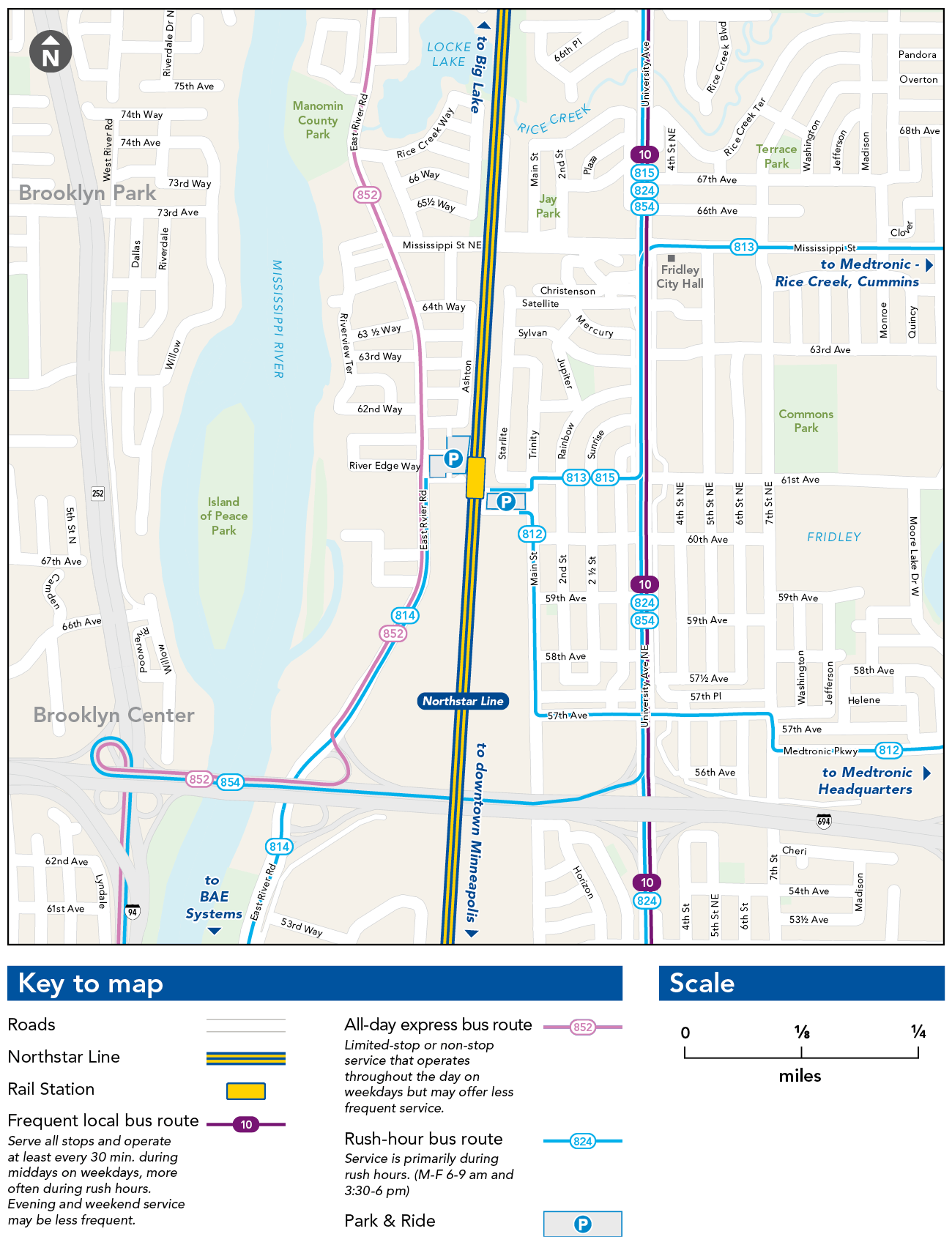 Fridley Station Map