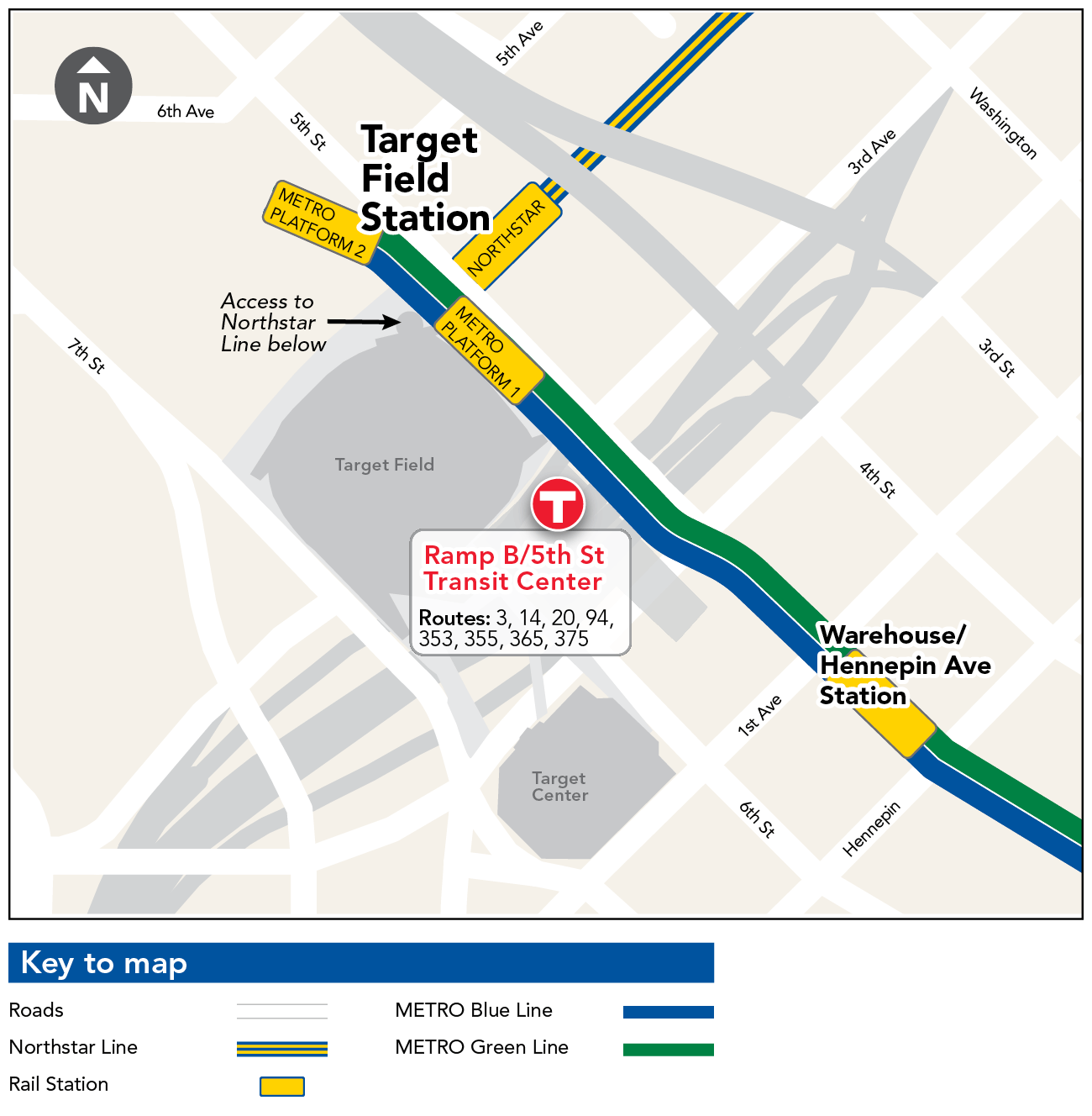 Target Field Station Map