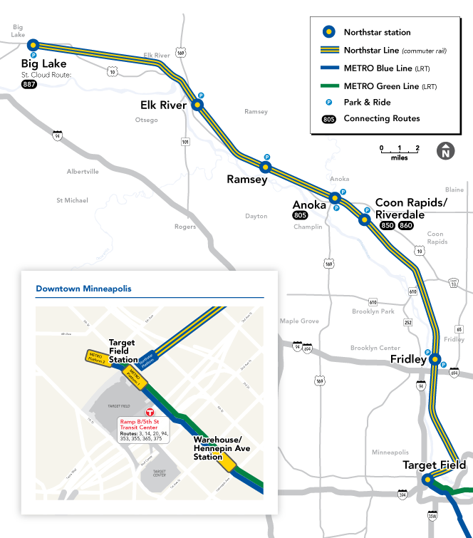 Northstar Stations Map