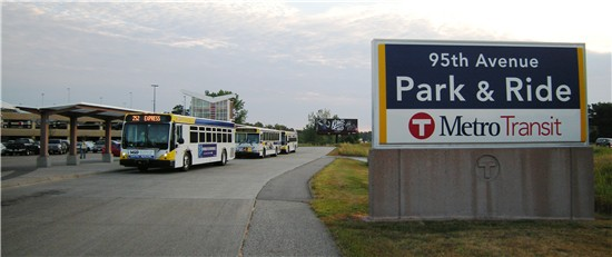 95th Avenue Park Ride Metro Transit Quality Hotel