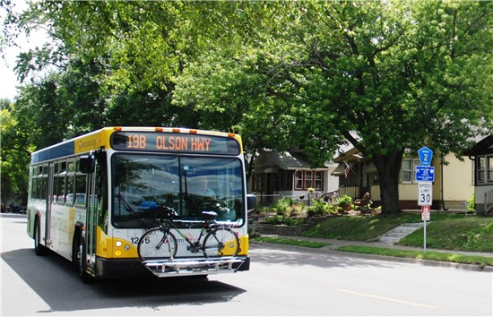 Route 19 Buses And Blossoms On Penn Avenue Metro Transit