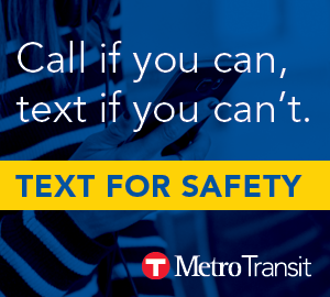 Text for safety. Call if you can, text if you can't.