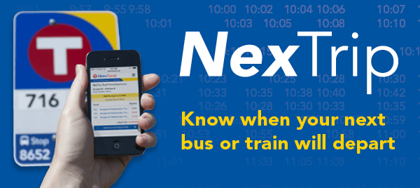 NexTrip - Know when your next trip will depart.