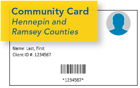 Image of Hennepin, Ramsey County Community Card