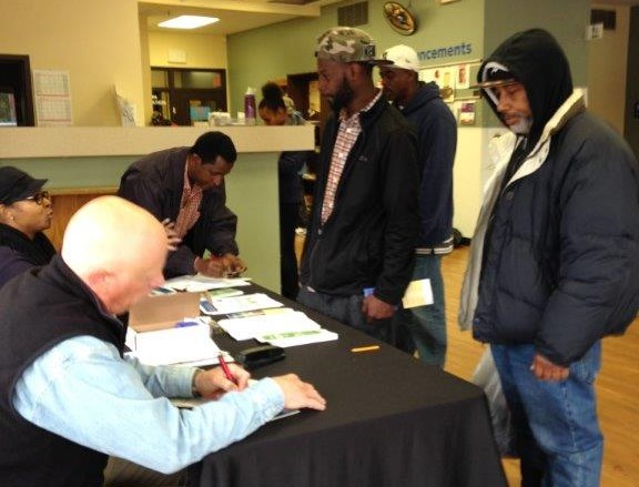 Transit Assistance Program, helping people sign up.
