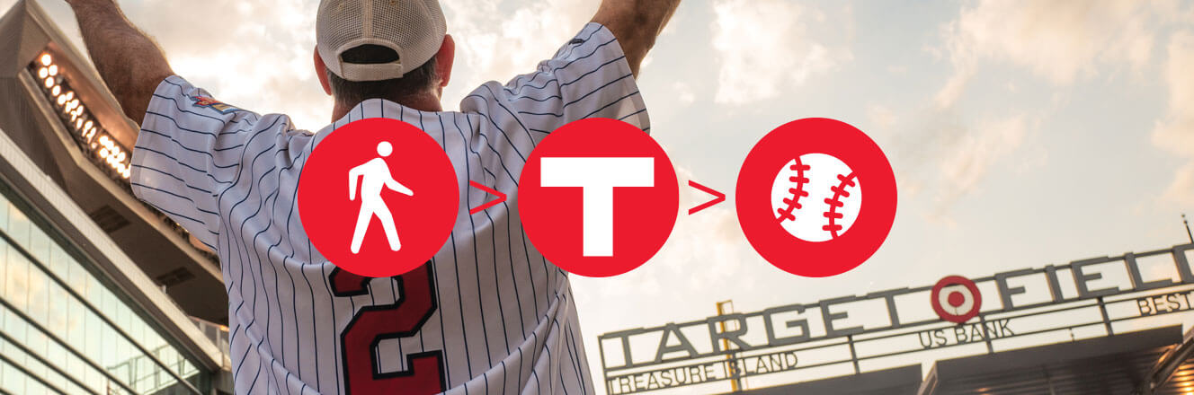 Take transit to Target Field.