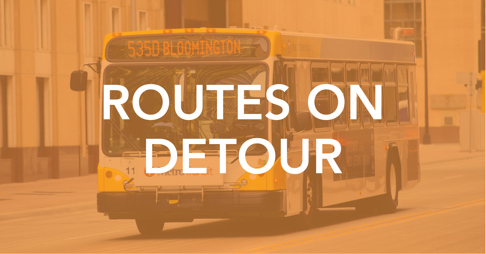 Routes on detour image linked to 35w detours page