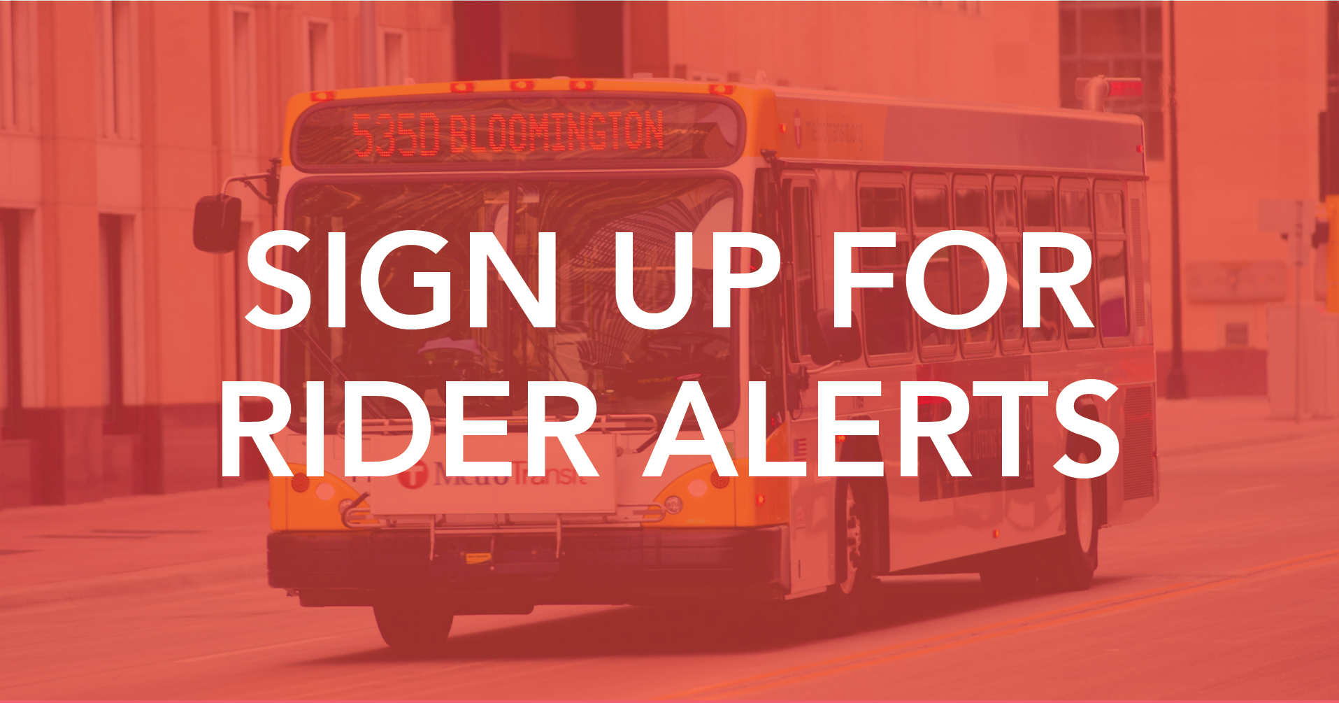 Sign up for rider alerts image linke to rider alerts page