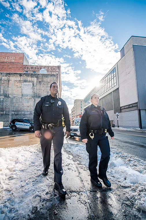 Metro Transit Police Officers on foot patrol